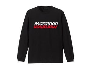 LONG SLEEVE T-SHIRT M319203-BLACK / ロンT ブラック BLACK  / MARATHON JACKSON マラソン ジャクソン