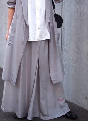 【hippiness】cupro shirring skirt(herringbone)/キュプラ シャーリング スカート(ヘリンボーン)
