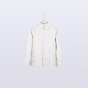 "HATRA ""micro paisley shirt"" [UNISEX/beige]"