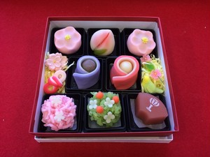 おひなさま和菓子詰め合わせ8個入り|豆大福や上生菓子のお取り寄せ・桐木神楽堂