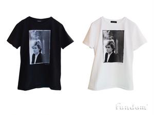 デヴィッド・シルヴィアンTシャツ〈FUNDOM×HERBIE YAMAGUCHI〉(黒)