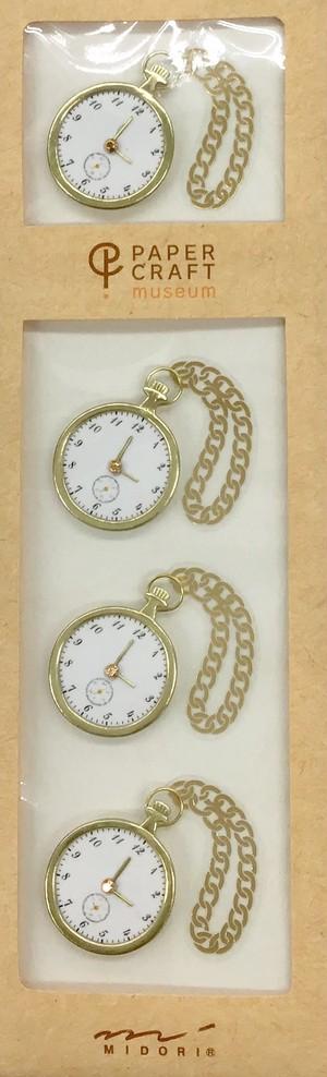 シール PCM モチーフ 懐中時計柄(82409006)