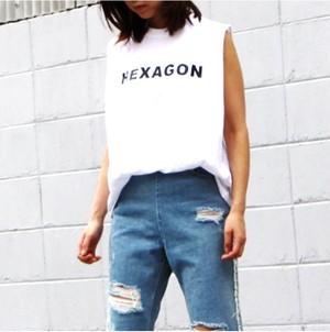 ロゴT ノースリーブ HEXAGOM Tシャツ(3カラー)