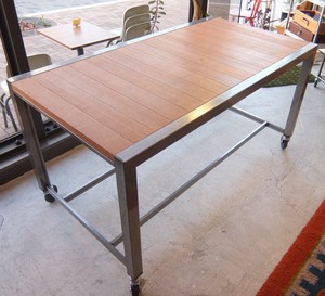 Iron Frame Caster Work Desk