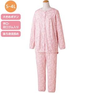 (お取り寄せ)婦人・大きめボタンパジャマ