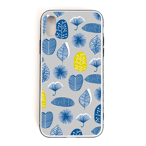 【Leaves】 強化ガラス仕上げ phone case (iPhone7/8/X)