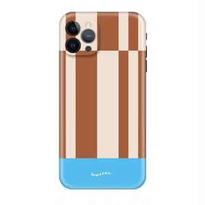 Brownストライプレトロポップ iPhoneケース  30