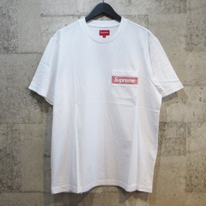 SUPREME 19SS Mesh Stripe Pocket Tee