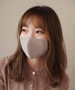 【即日発送】 < 女性 専用 > 超小顔見え リブ マスク 2枚セット