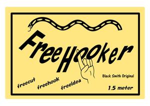 Free Hooker Black Smith Original ブラックスミスオリジナル フリーフッカー シーシーバー,リアフェンダーなどへキャンプ時などの荷物の固定に最適!荷掛け用ゴムロープ