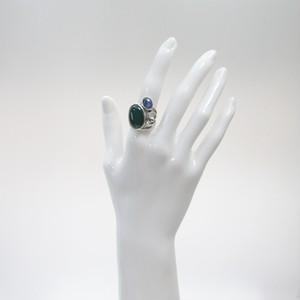 瑪瑙とカイヤナイトのリング
