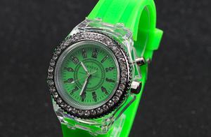 カラフル腕時計(黄緑)