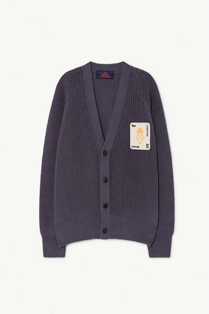 TAO PLAIN RACOON KIDS CARDIGAN navy blue