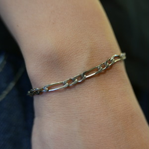 French Silver Chain Bracelet
