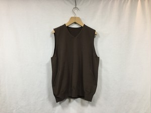 "crepuscule"" wholegarment VEST Brown"""