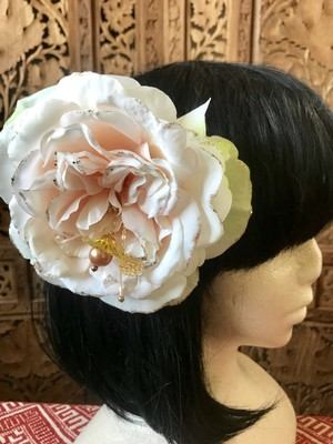 Flower hair ornament-White