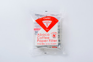 アバカ円すいコーヒーフィルター1杯用(100枚入) 白色