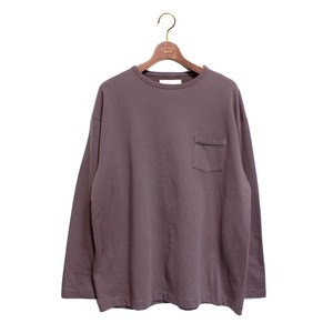 L/S Loose Pocket Tee -charcoal <LSD-AH3T4>