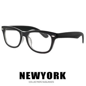ダテ眼鏡 ウェリントン 型 11145-a-1 UVカット クリアサングラス 伊達メガネ フレーム メンズ レディース