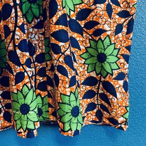 アフリカンテキスタイルシャツ(グリーンフラワー)