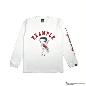EXAMPLE x BETTY BOOP L/S TEE / WHITE