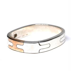Hermès Vintage Sterling Silver & Bronze Thick Bracelet