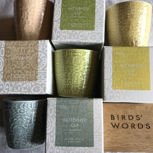 PATTERNED CUP(BIRDS′WORDS)