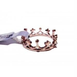 サージカルステンレス カエルの王冠リング ローズゴールド#9