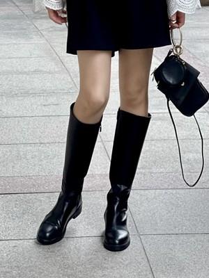 【予約】flat heel long boots / black (11月中旬発送予定)