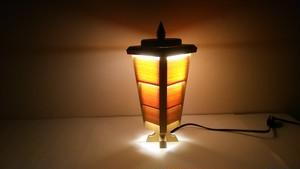 【いやしとやすらぎの空間】を演出する 青森ヒバ 木製 テーブルランプ   No.   006