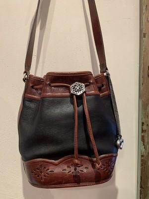 """Brighton"" flower concho leather shoulder bag.(b146)"