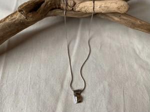 <vintage silver925>citrine glass necklace