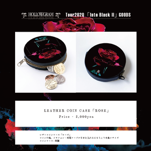 "HOLLOWGRAM ""tour Into Black II"" LEATHER COIN CASE「ROSE」"