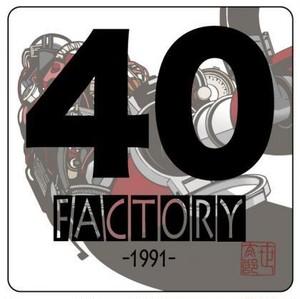 「40FACTORY」ステッカー2枚セット 送料無料