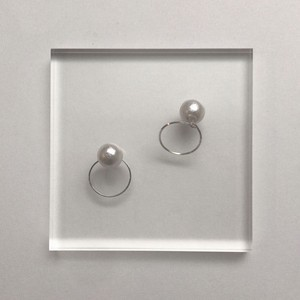 【Silver Filled】pearl round pierce《2way》