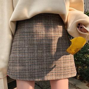 【ボトムス】スウィートハイウエストAラインチェック柄スカート23271828