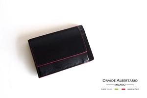 ダヴィデ アルベルタリオ |DAVIDE ALBERTARIO|グレインレザースマートウォレット|ブラック