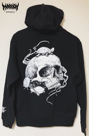 【裏パイル】Turtle&Skull Hoodie (Black,Gray)