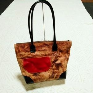 柿渋染和紙鞄 赤
