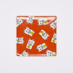 【限定1点 アウトレット品】九谷焼 角皿 招き猫 253226 豆豆市090