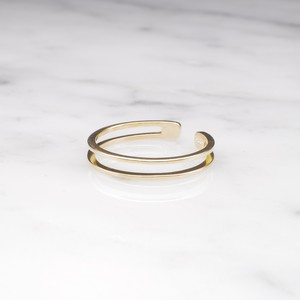S925 THIN LAYERED RING GOLD
