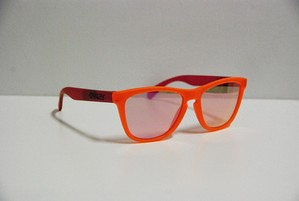 OAKLEY FROGSKINS BLACK LIGHT ORANGE/PINK/PINKIRIDIUM オークリー フロッグスキン