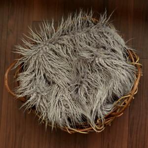 バスケット用フェイクファー2(鳥の巣)