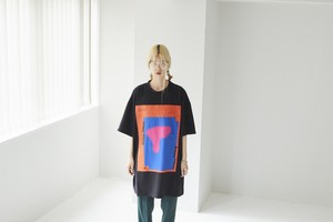 graphic t-shirt [ r13-20SS / black ]