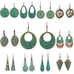 Bohemian Green Earrings♥