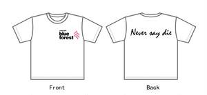 熊谷BULE FOREST 支援プロジェクト 白Tシャツ