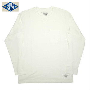 NS006005 USA COTTON L/S POCKET Tee / WHITE