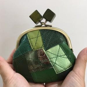 ガマ口 コインケース(グリーンMIX)