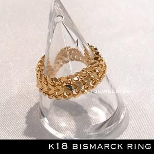 k18 18金 ビスマルク  リング 男女兼用 / k18 Bismarck ring