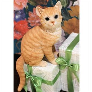 アメリカンショートヘア おすわり ネコオブジェ E 4type   猫 置物 ネコ雑貨/浜松雑貨屋C0pernicus
